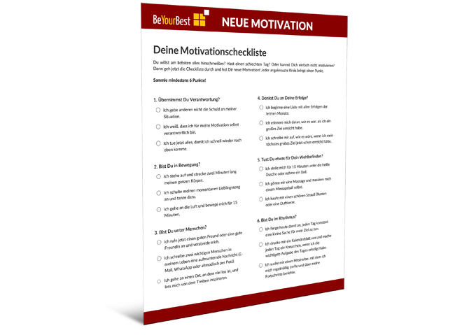 Motivationscheckliste