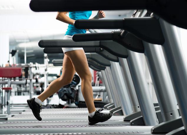 Laufen im Fitnessstudio